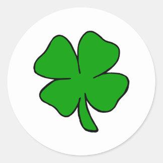 Sticker Rond Shamrock irlandais