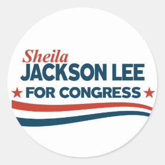 Sticker Rond Sheila Jackson Lee