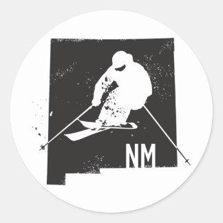 Sticker Rond Ski Nouveau Mexique
