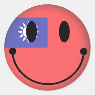 Sticker Rond Smiley de Taïwan