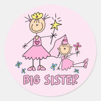 Sticker Rond Soeur de princesse Duo de bâton grande