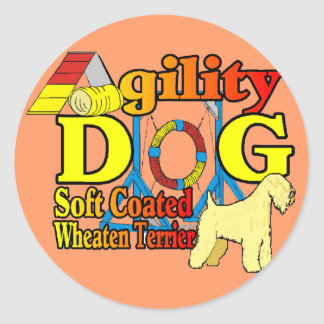 Sticker Rond Soft_Coated_Wheaten_Terrier_Agility