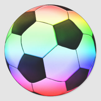 Sticker Rond Sport du football du football | de Colorfull