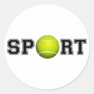 Sticker Rond Sport (tennis)