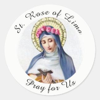 Sticker Rond St Rose de Lima