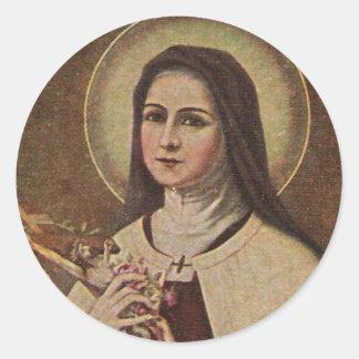 St Therese de Lisieux avec l'autocollant de
