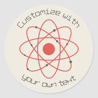 Sticker Rond Structure d'atome