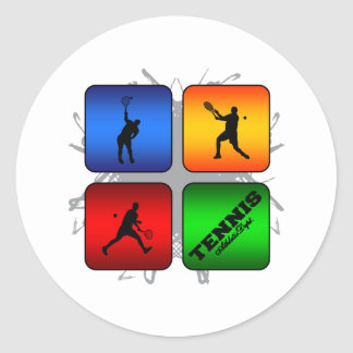 Sticker Rond Style urbain de tennis extraordinaire (mâle)