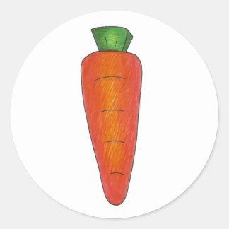 Sticker Rond Sucrerie orange de panier de Pâques de carotte de