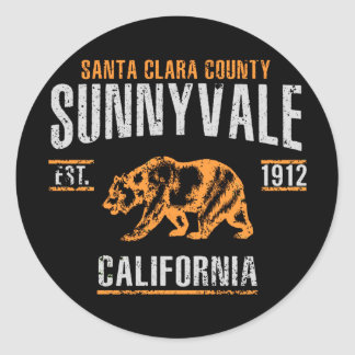 Sticker Rond Sunnyvale