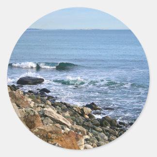 Sticker Rond Surf de la Nouvelle Angleterre