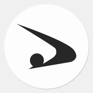 Sticker Rond Symbole d'Akita