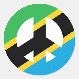 Sticker Rond Symbole de paix tanzanien