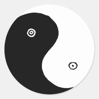Sticker Rond Symbole de Yin Yang de Chinois