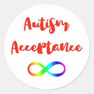 Sticker Rond Symbole d'infini d'acceptation d'autisme