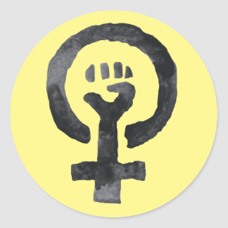 Sticker Rond Symbole féministe de poing