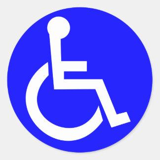 Sticker Rond Symbole international de l'accès