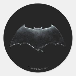 Sticker Rond Symbole métallique de la ligue de justice | Batman