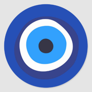 Sticker Rond talisman arabe turc grec de symbole d'oeil mauvais