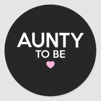 Sticker Rond Tante To Be Cute Print pour des baby showers