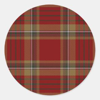 Sticker Rond Tartan d'Irlandais de Tyrone du comté