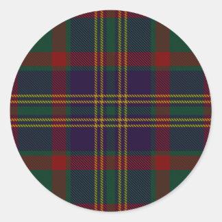 Sticker Rond Tartan d'Irlandais du comté de liège