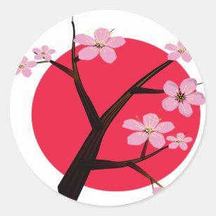 Autocollants Stickers Cerisier Japonais Zazzle Be