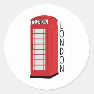 Sticker Rond Téléphone de Londres