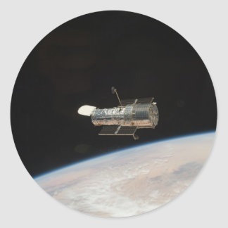 Sticker Rond Télescope spatial de la NASA Hubble