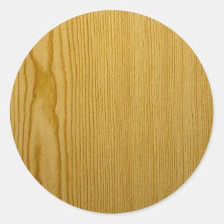 Sticker Rond Texture de pin