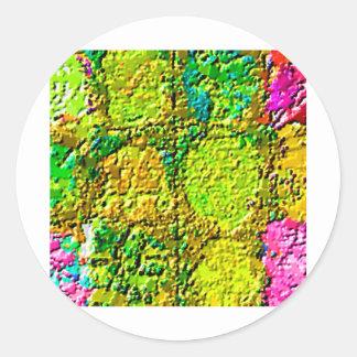 Sticker Rond Thérapie par les cristaux florale magique 12 V3