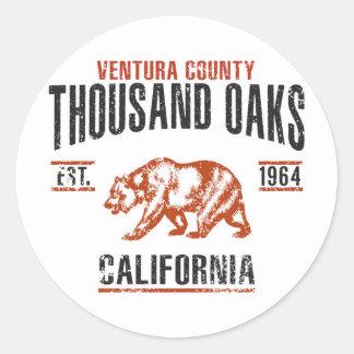 Sticker Rond Thousand Oaks