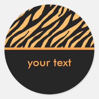 Sticker Rond Tigre