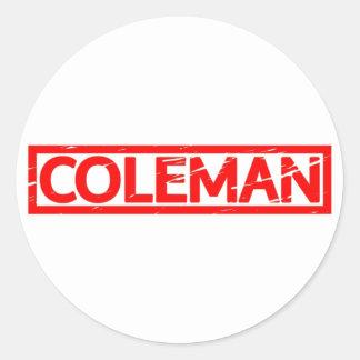 Sticker Rond Timbre de Coleman
