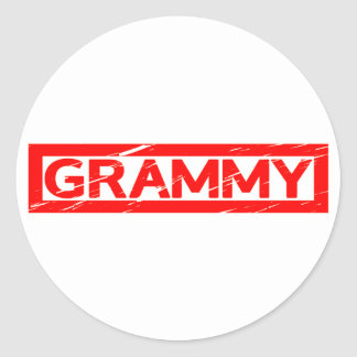 Sticker Rond Timbre de Grammy