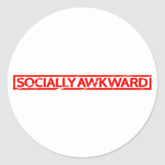 Sticker Rond Timbre socialement maladroit