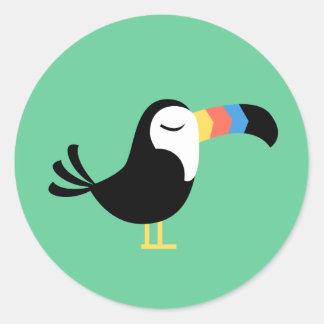 Sticker Rond Toucan coloré