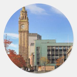 Sticker Rond Tour d'horloge à Belfast