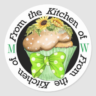 Sticker Rond Tournesol de l'autocollant de cuisine