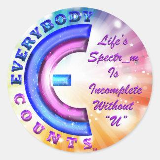 Sticker Rond Tout le monde compte l'autocollant (TM)
