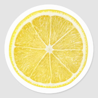 Sticker Rond Tranche de citron