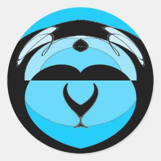Sticker Rond Trésors de la mer bleue