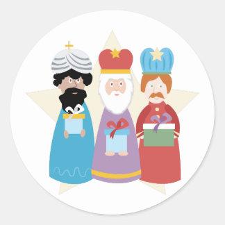 Sticker Rond Trois sages