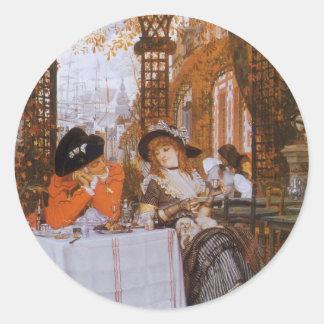 Sticker Rond Un déjeuner (Le Dejeuner) par James Tissot