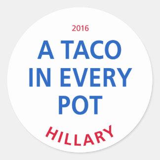 Sticker Rond Un taco dans chaque pot