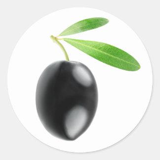 Sticker Rond Une olive noire