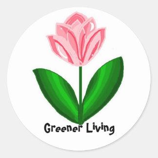 Sticker Rond Une vie plus verte