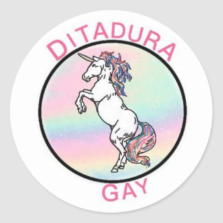 Sticker Rond Unicorne