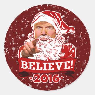 Sticker Rond Vacances du Président Donald Trump