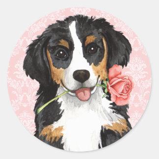 Sticker Rond Valentine Berner rose